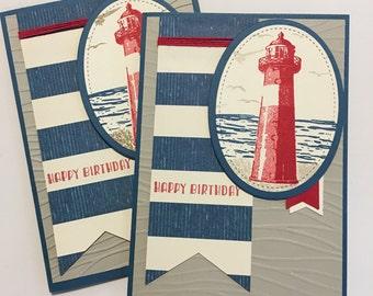 Lighthouse birthday card