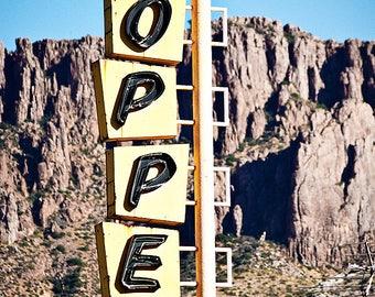 Copper Motel - Desert Googie Motel Sign Photograph