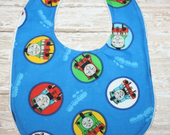 Baby bib-Train Baby Bib-Thomas The Train Bib-Bibs-Sale-Baby bibs-Boy Baby Bib-Cho Cho Baby Bib