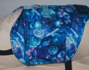 Galaxy Vest. Lined with 3d padded Spacer fabric. 2 Pockets, Customize to suit your needs.