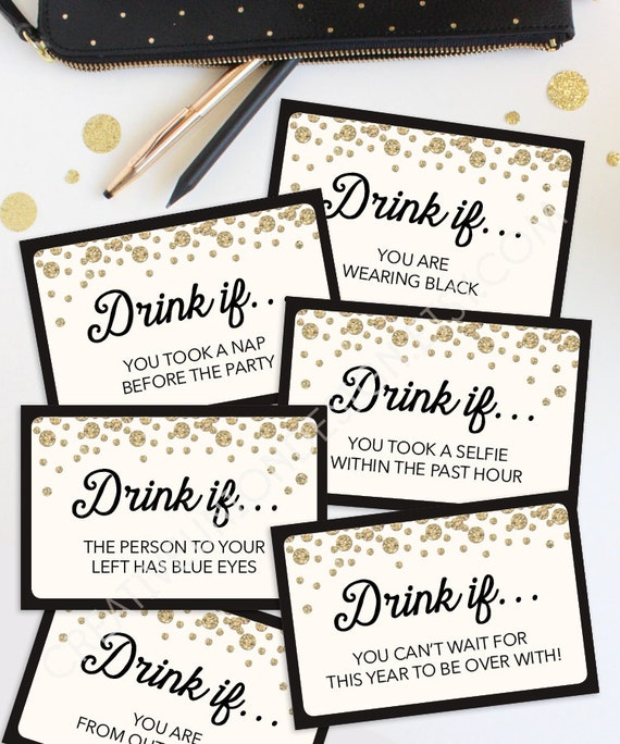 New Years Eve Game Drink If Game Printable New Year's