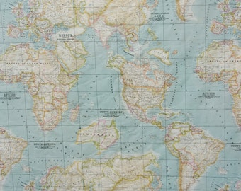 Tim holtz eclectic elements expedition world map fabric novelty world map fabric craft fabric america africa europe asia half a yard gumiabroncs Image collections
