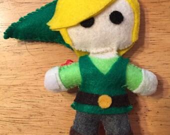 Link From Legend of Zelda Felt Doll