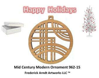 962-15 Mid Century Modern Christmas Ornament