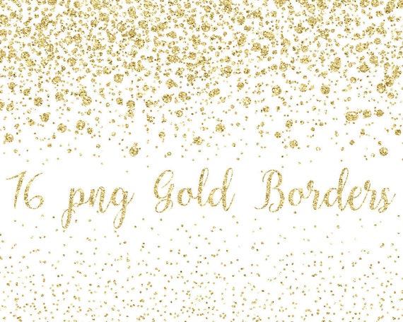 Buy 3 For 9 Usd Gold Glitter Border Confetti
