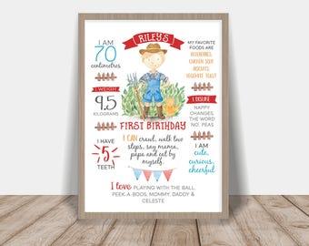First Birthday Poster Farm Boy