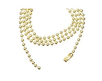Ball chain / ball fine PALE GOLD 60cm