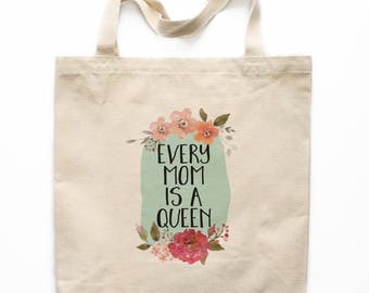 Mother's Day Tote Bag, Canvas Tote Bag, Mother's Day Gift Canvas Bag, Printed Tote Bag, Market Bag, Shopping Bag, Reusable Grocery Bag 0108