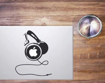 Macbook Stickers Headphone
