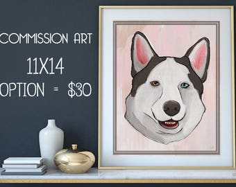 11x14 Pet Commission Art, Pet Portrait, Custom Pet Drawing, Personalized Pet Portrait from Photo, Original Pet, Cat Lover Gift, Pet Memorial