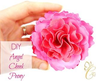 Angel Cheek Peony Paper Flower Templates, DIY Paper Flower Kit, SVG Cut Files, Printable PDF Templates
