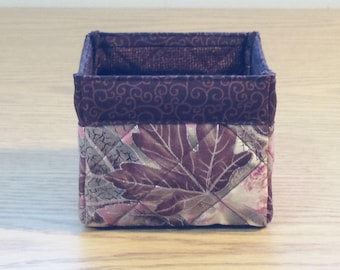 Quilted Fabric Box (TGBX02) Leaves