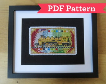 Ticket To Ride Cross Stitch Digital PDF Pattern