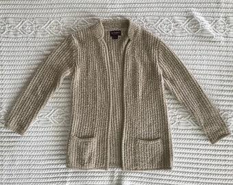 Acrylic knit bohemian cardigan sweater