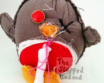 Zombear Robin - cute stuffed zombie animal