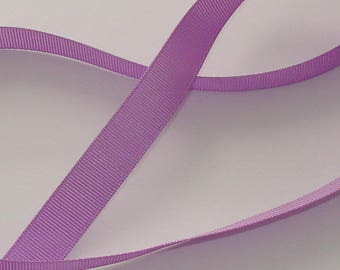1 meter Ribbon satin grosgrain 16mm wide purple