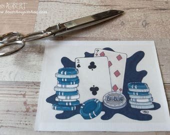 Illustrated fabric coupon - poly 20 x 14 cm