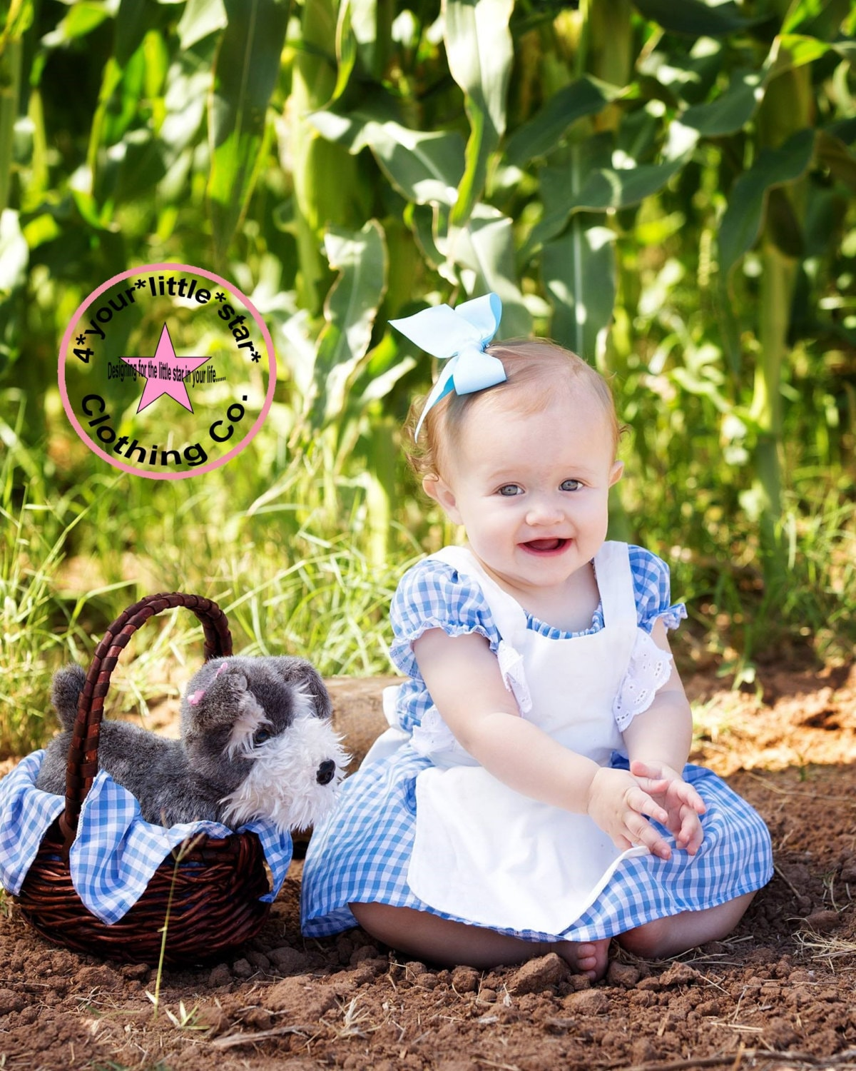 wizard of oz inspired dorothy costume dress for babies includes apron sizes 0 3 mos to 2t halloween sc 1 st 4yourlittlestar