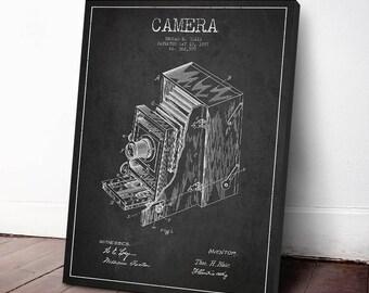 1887 Camera Patent, Camera Print, Vintage Camera, Canvas Print, Wall Art, Home Decor, Gift Idea, ELCA11C