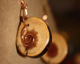 Cedar Copper Swirl Earrings