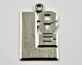 Love Sterling Silver Charm or Pendant.