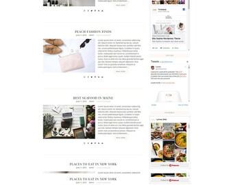 Responsive Wordpress Theme Savannah - Genesis Child Theme - Wordpress Template - Wordpress Blog - Blog Design