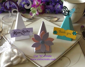 Pyramid Favor Box Pyramid Favor Boxes Pyramid Favors Place Card Holder Wedding Place Card Place Cards Wedding