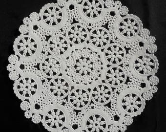 """50 - 4"""" WHITE MEDALLION Paper Doilies 