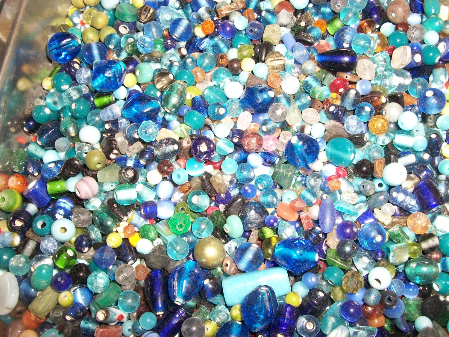 bulk lot glass wholesale pound mixed shipping itm assorted quarter half beads buy in us fast