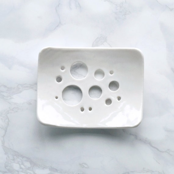 BUBBLE holes soap dish, white