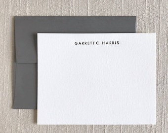 Sans-Serif Font - Personalized Letterpress Stationery, Custom Letterpress Stationery, Letterpress Note Cards, Simple Personalized Stationery