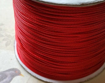 0.8 mm Red Color Korean Waxed Cotton Cord (.thg)