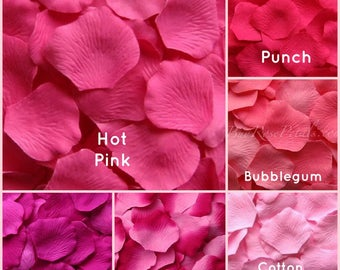 Hot Pink Rose Petals -  1,000 Silk  Rose Petals