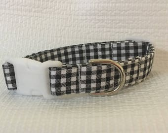 Gingham Dog Collar Custom Made