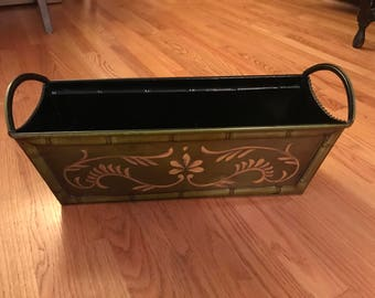 Vintage Green Rectagular Bin