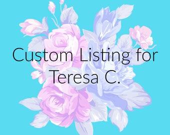 Custom Listing for Teresa C. ~ Bath Bomb Gift Set ~ Bath Bomb Set ~ Vegan Bath Bomb Set ~ Organic Bath Gift Set ~ Bath Fizzies Gift Set