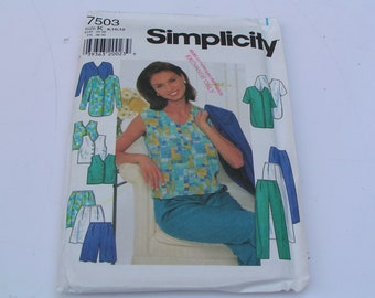 Simplicity Pattern 7503 Misses Jacket Top Pants Shorts