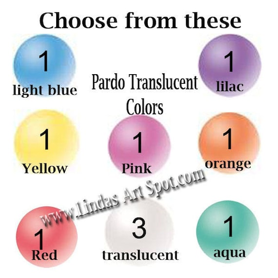 10 pack Pardo Translucent Professional Art Clay, make beautiful faux beach glass and more by Viva Decor