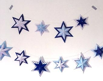 Bar mitzvah centerpiece, Bar mitzvah decor, printable star of David garland, Printable bar mitzvah decorations, Instant download.