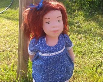 Waldorf Inspired Doll, Waldorf doll, Organic Doll, 16 inches, Gift for girl, Natural Fiber Art Doll, Eco puppe, Rag doll, Waldorf style doll
