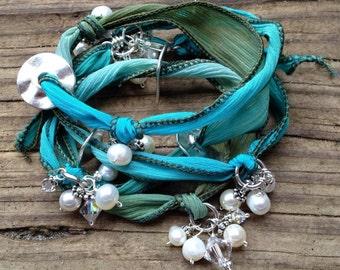 Sea Spray Wrist Wrap/Necklace