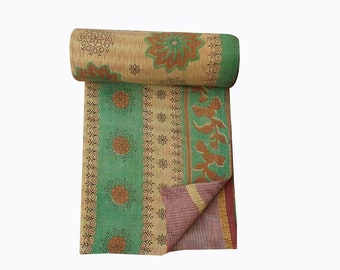 One-of-a-Kind Kantha Throws, Kantha Quilt,Vintage recycle  Kantha Quilt, bohemian Throw,kantha Blanket
