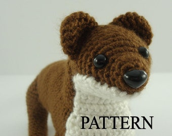 Ermine Crochet Pattern Amigurumi Stoat Crochet Pattern Weasel Crochet Pattern Amigurumi Crochet Animal Adobe Pdf Digital Download File