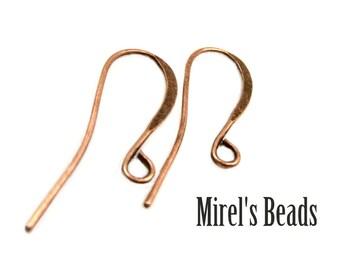 48 pcs Antique Copper Ear Wires, Fish Hook Copper Plated