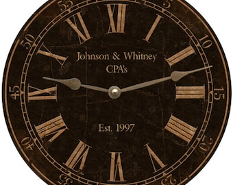 Professional Clock- Office Wall Clock-Personalized
