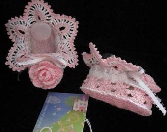 Crochet Baby Girl Shoes, Christening Baby Booties' Baby Girl Summer Booties, Lace Flower Booties Baby Shower Gifts for girl