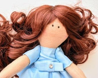 Bebe Doll in Blue Dress