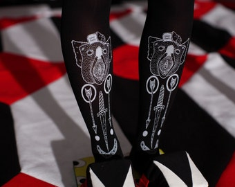 NAKED black tight stockings