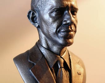 Barack Obama Bust : faux bronze 3D print