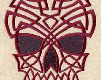 Celtic Skull Embroidered Flour Sack Hand/Dish Towel